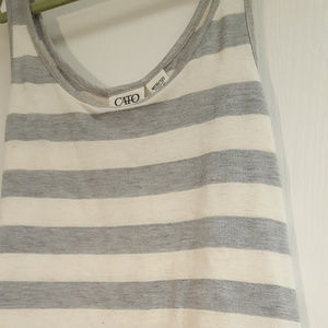 Cato Shirts & Tops - Cato Girls Grey and White Striped Tank Floral